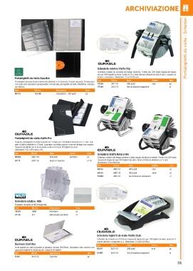 Schedario Rotativo Per Biglietti Da Visita.Page 255 Catalogo Ged Forniture Per Uffici